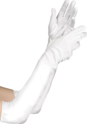 Adult Long White Gloves Deluxe