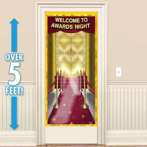 Red Carpet Awards Night Door Decoration