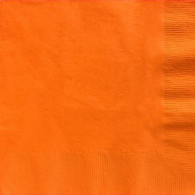 Orange Dinner Napkins 20ct
