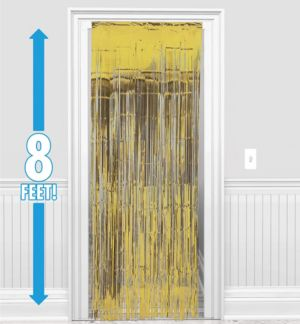 Gold Fringe Doorway Curtain