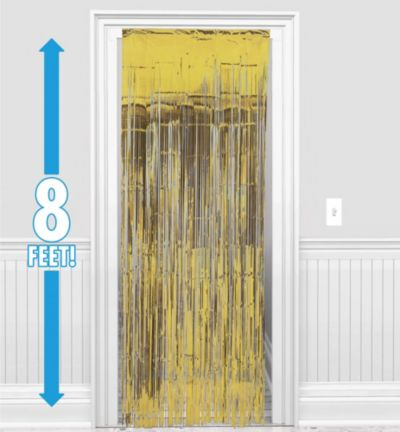 Gold Foil Doorway Curtain 8ft