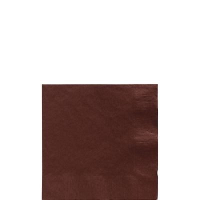 Chocolate Brown Beverage Napkins 50ct