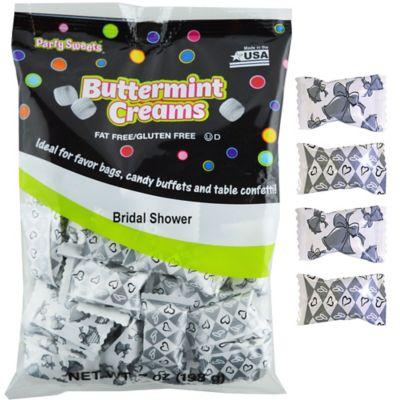 Silver Bridal Shower Pillow Mints 50ct