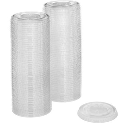 CLEAR Plastic Portion Cup Lids 2oz 100ct