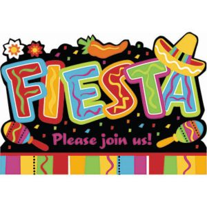 Bright Fiesta Invitations 8ct