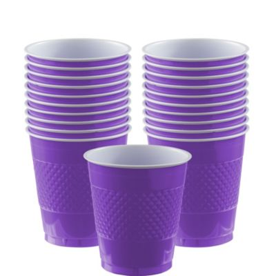 Purple Plastic Cups 20ct