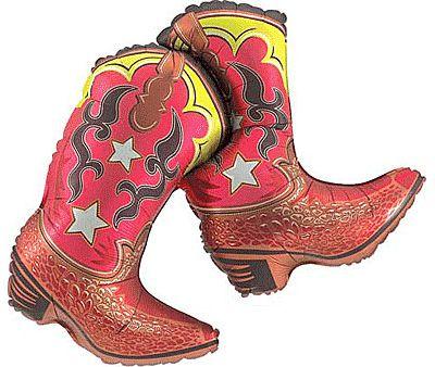 Cowboy Boots Balloon