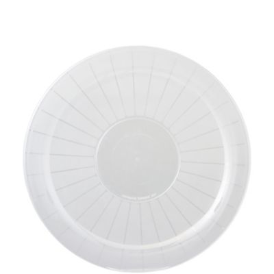 CLEAR Plastic Round Platter 16in