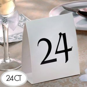 Table Number Tent Cards 13-24