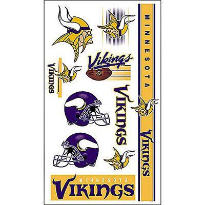 Minnesota Vikings Tattoos 10ct