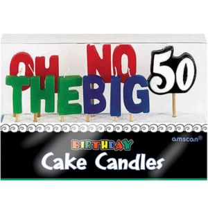 Oh No the Big 50 Birthday Toothpick Candles 11ct