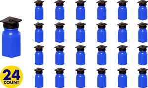 Royal Blue Graduation Cap Mini Bubbles 24ct