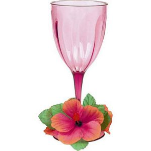 Floral Paradise Warm Plastic Wine Glass