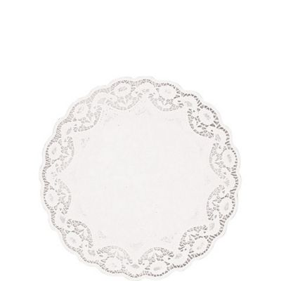 White Round Doilies 56ct
