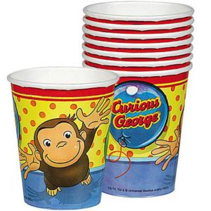 Curious George Cups 8ct