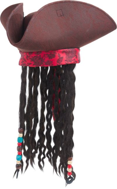Child Jack Sparrow Pirate Hat with Hair
