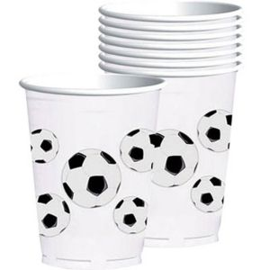 Plastic Soccer Fan Cups 8ct