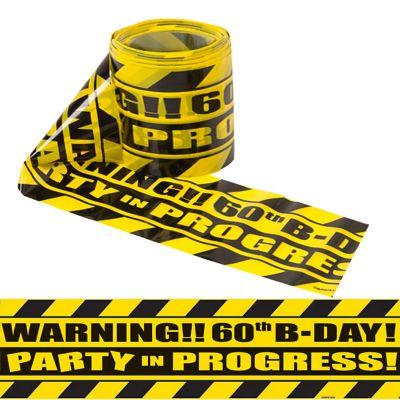 Party Scene 60th Birthday Warning Tape