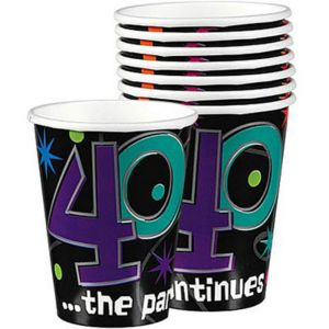 The Party Continues 40th Birthday Cups 8ct
