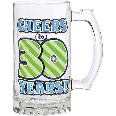 30th Birthday Glass Tankard