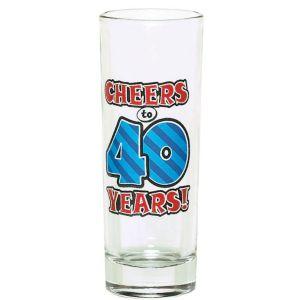 40th Birthday Tall Shot Glass
