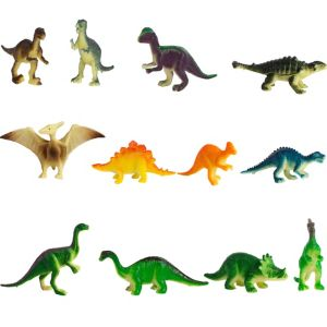 Prehistoric Dinosaur Figures 12ct