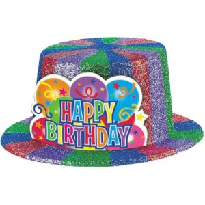Sparkle Birthday Top Hat
