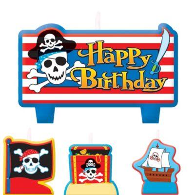 Pirate's Treasure Birthday Candles 6ct