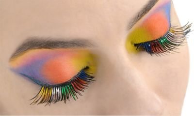 Rainbow Foil False Eyelashes