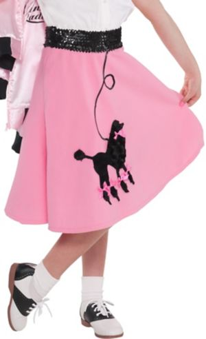 Girls Pink Poodle Skirt
