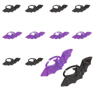 Purple and Black Bat Rings 30ct