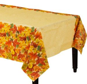 Elegant Leaves Paper Table Cover
