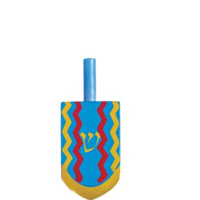 Painted Wooden Dreidel