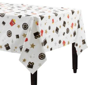 Movie Night Plastic Table Cover