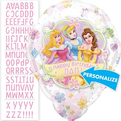 Disney Princess Balloon - Personalized