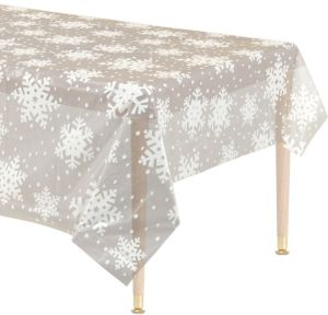 Clear Snowflake Table Cover
