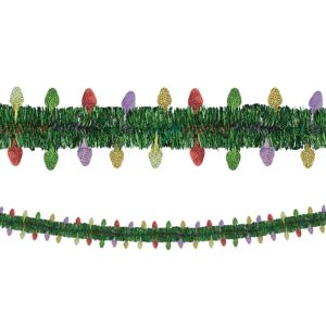 Light Bulb Tinsel Garland