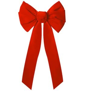 Red Holiday Wreath Bow