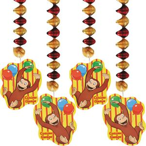 Curious George Dangling Cutouts 4ct