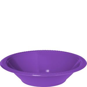 Purple Plastic Bowls 20ct