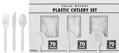 White Cutlery Set 210pc