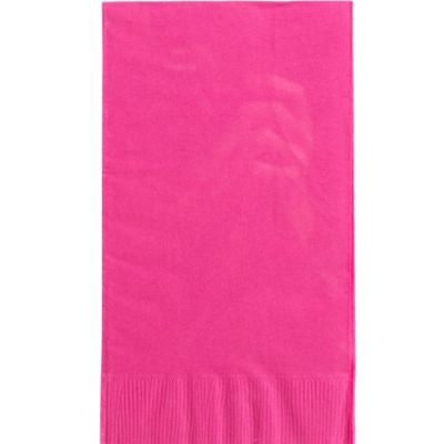 Bright Pink Guest Towels 16ct