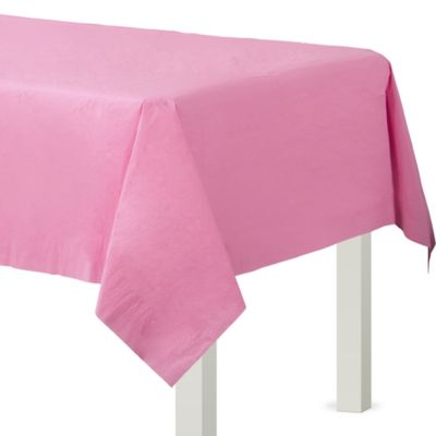 Pink Paper Table Cover
