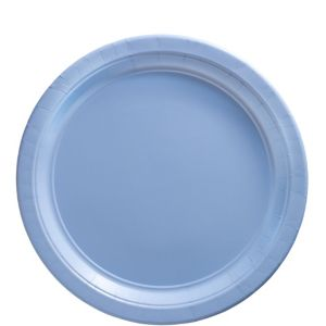 Pastel Blue Paper Lunch Plates 20ct