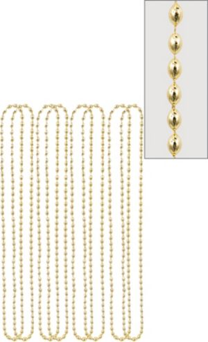 Metallic Gold Bead Necklaces 8ct