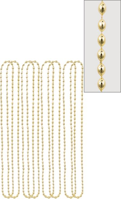 Gold Bead Necklaces 8ct