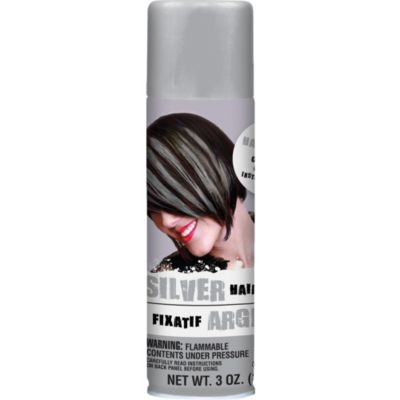 Silver Temporary Hair Color Spray 3oz  Party City