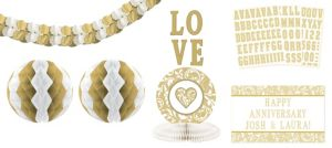 Gold Personalized Decorating Kit 13pc