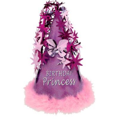 Purple Marabou Birthday Princess Party Hat