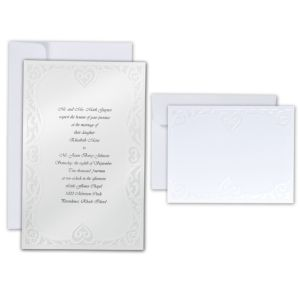 Luxe Hearts Printable Wedding Invitations Kit 50ct
